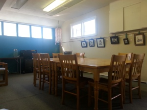 The classroom is available to rent in the evenings.